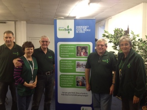 Volunteers at Dunfermline Foodbank on Monday 30th September